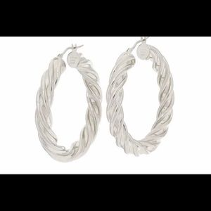 QVC Bronzo Italia twisted hoop earrings -sold out
